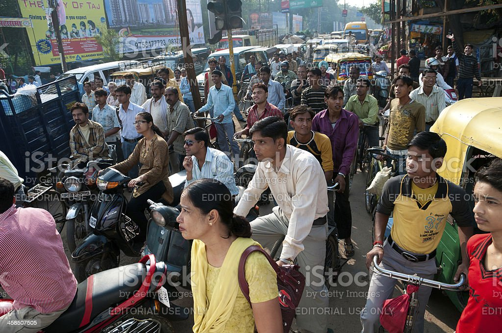 Rush hour in Agra royalty-free stock photo