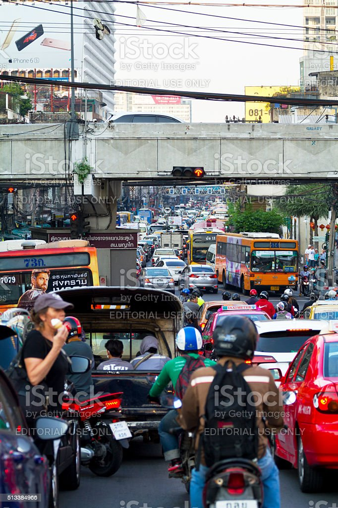 Rush hour in Bangkok stock photo