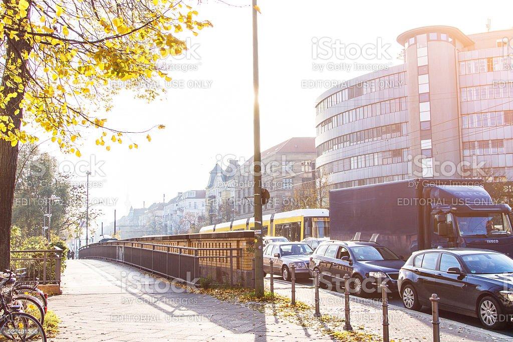 Rush hour in Berlin stock photo