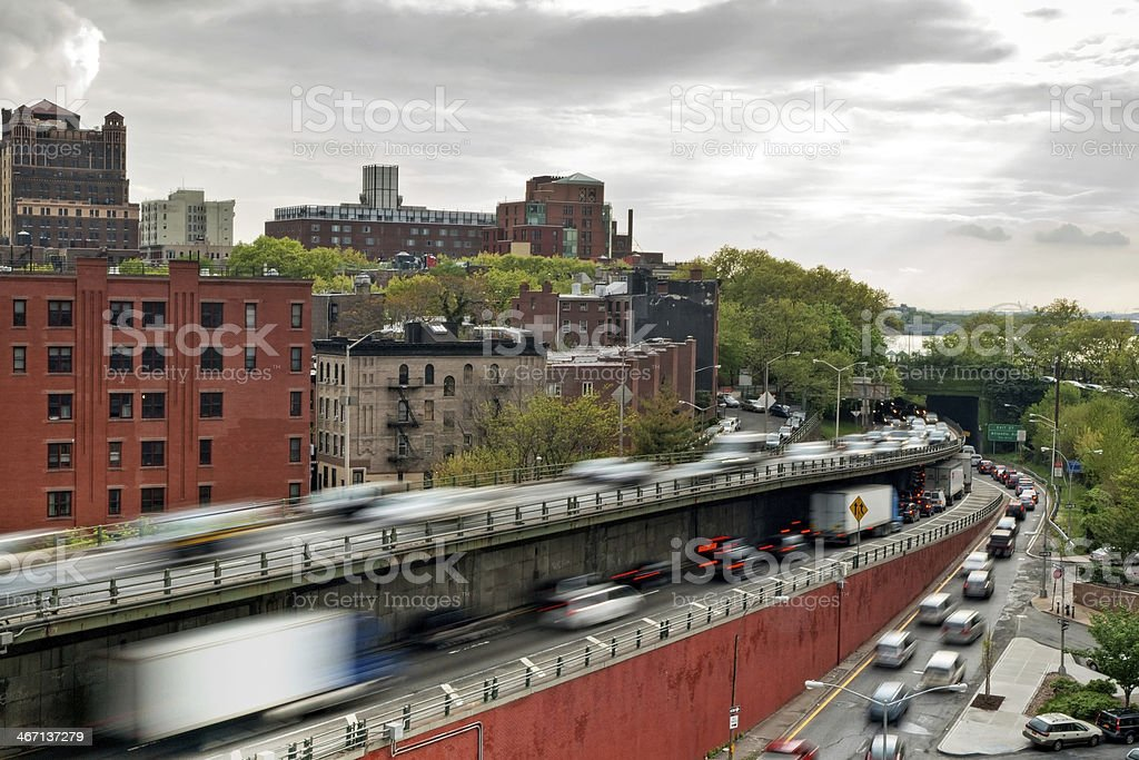 Rush hour in Brooklyn royalty-free stock photo