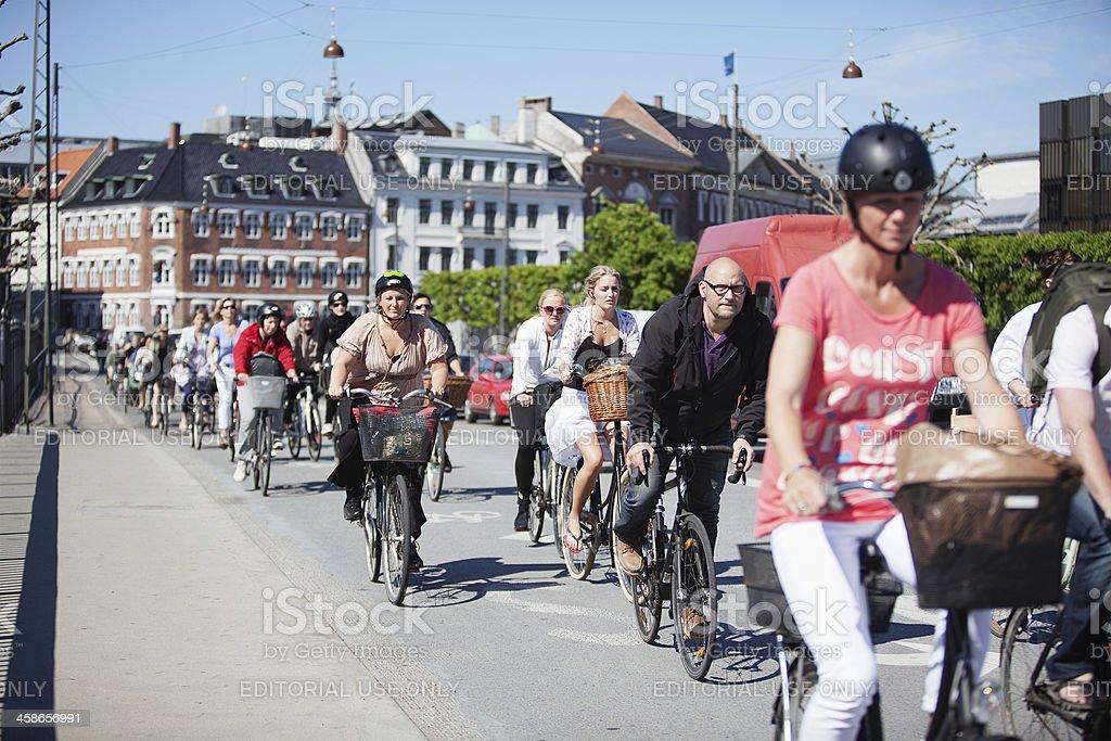 Rush hour in Copenhagen stock photo