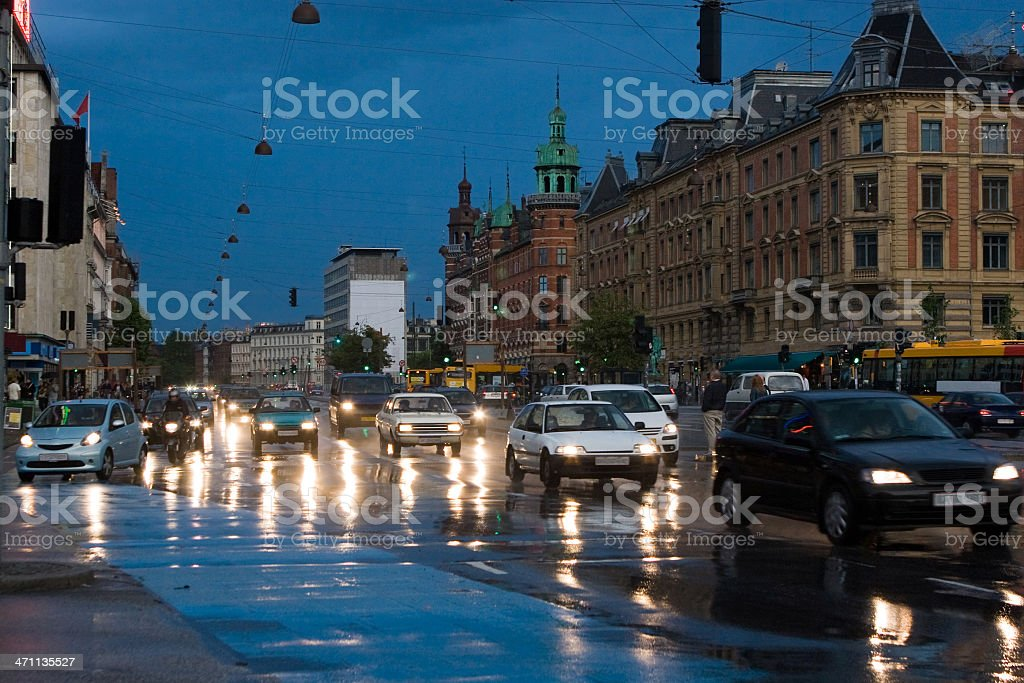 Rush Hour in Copenhagen royalty-free stock photo