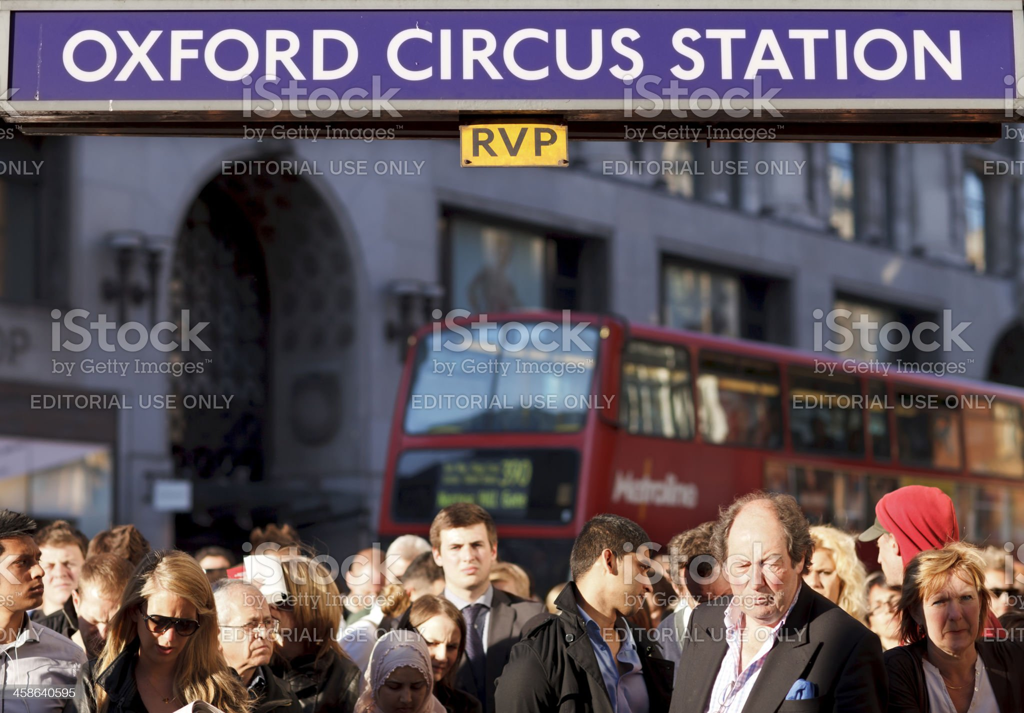 Rush hour in London royalty-free stock photo