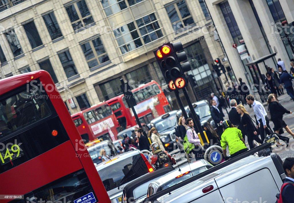 Rush hour in London, UK stock photo