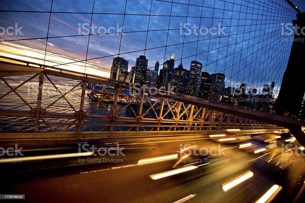 rush hour in New York City royalty-free stock photo