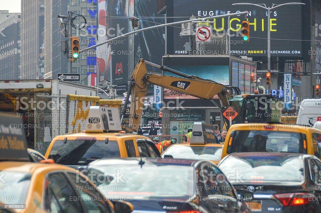 Rush hour in New York City stock photo