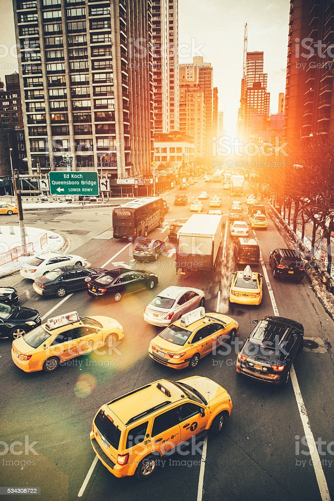 Rush Hour in New York City stock photo