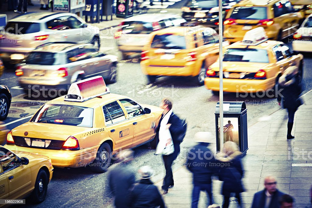Rush Hour in New York royalty-free stock photo