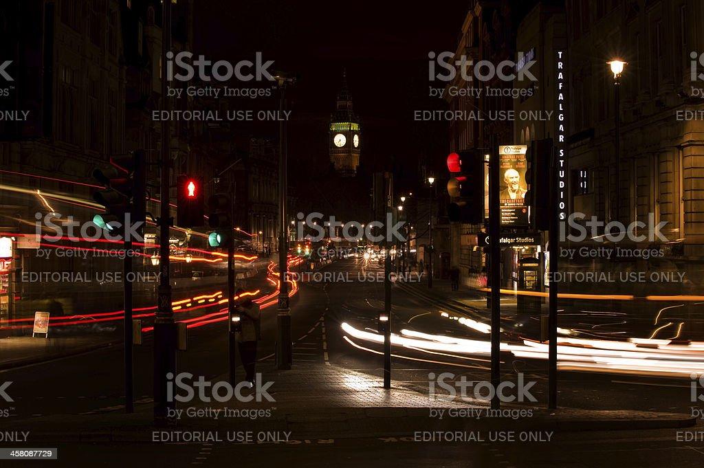 Rush hour London at night royalty-free stock photo