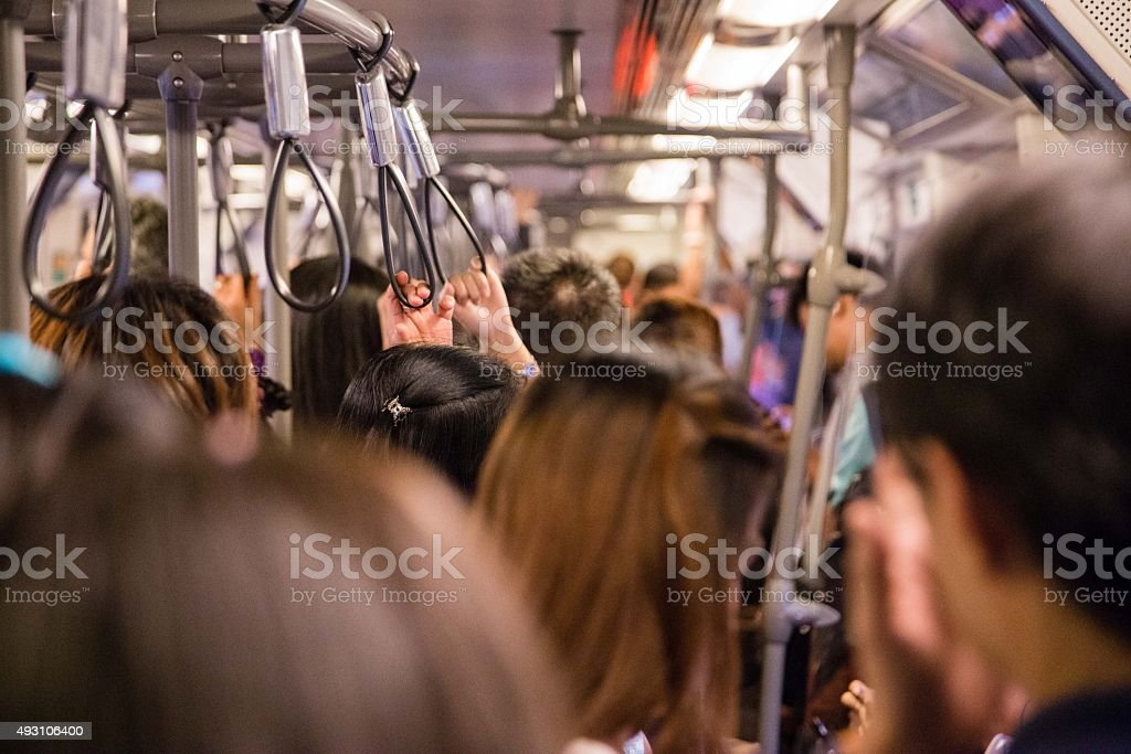 Rush Hour Metro stock photo