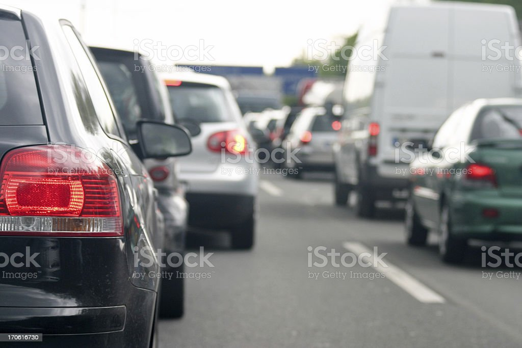 Rush hour on the highway stock photo