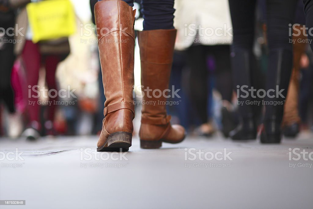 Rush hour on the streets of London stock photo