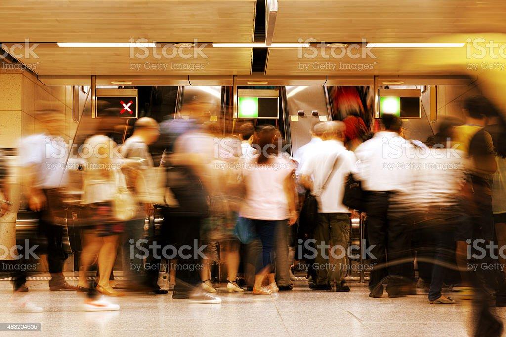 Rush Hour royalty-free stock photo