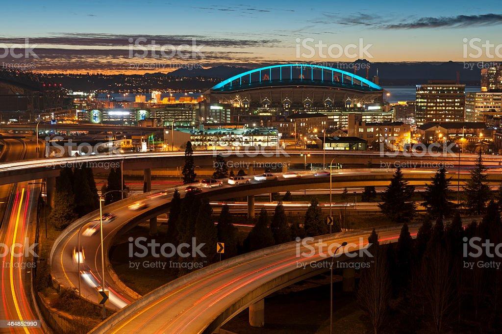 Rush Hour, Seattle, Washington stock photo
