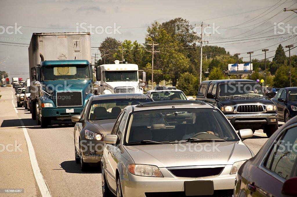 Rush Hour Traffic Jam stock photo