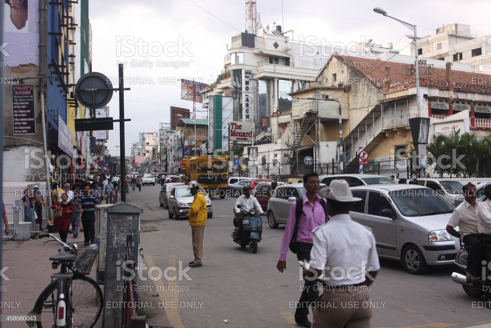 Rush hour traffic on Hosur Road, Bangalore, India royalty-free stock photo