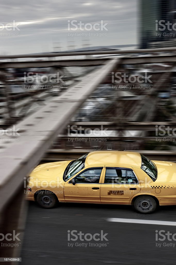 Rush in Brooklyn Bridge royalty-free stock photo