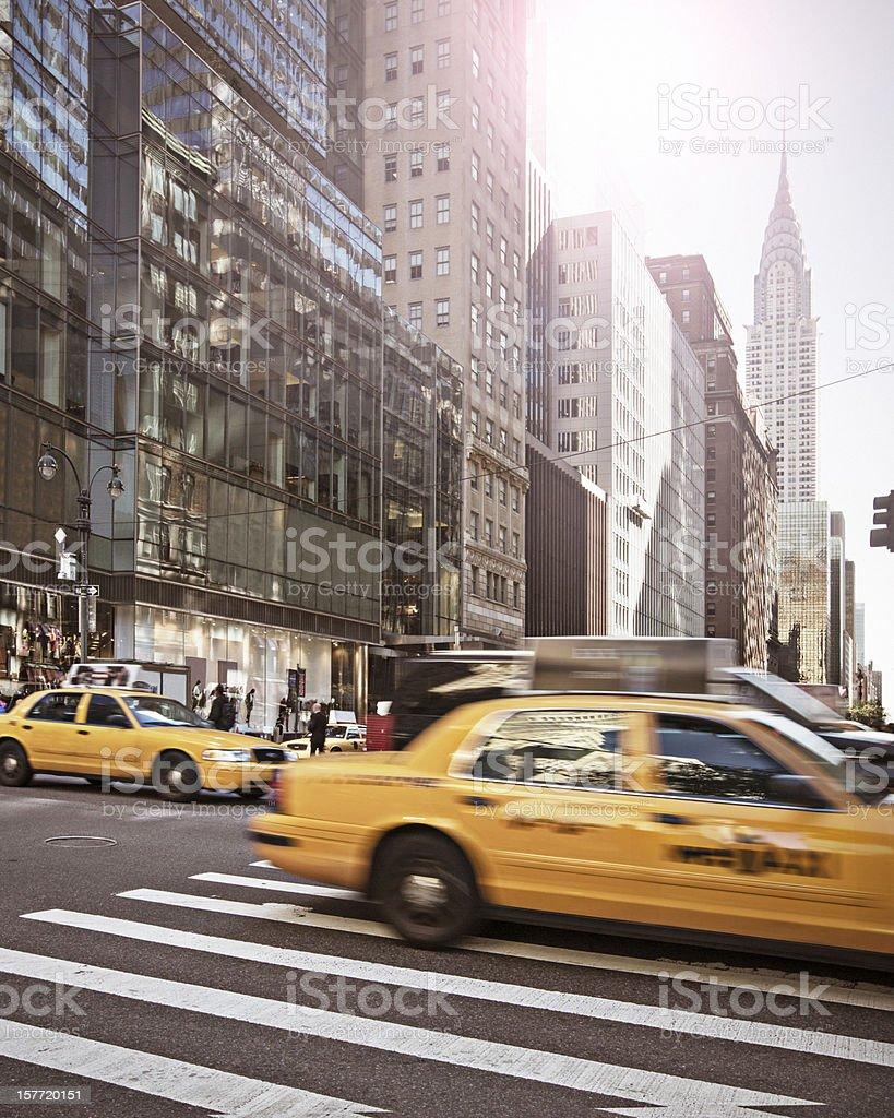 Rush in New York stock photo