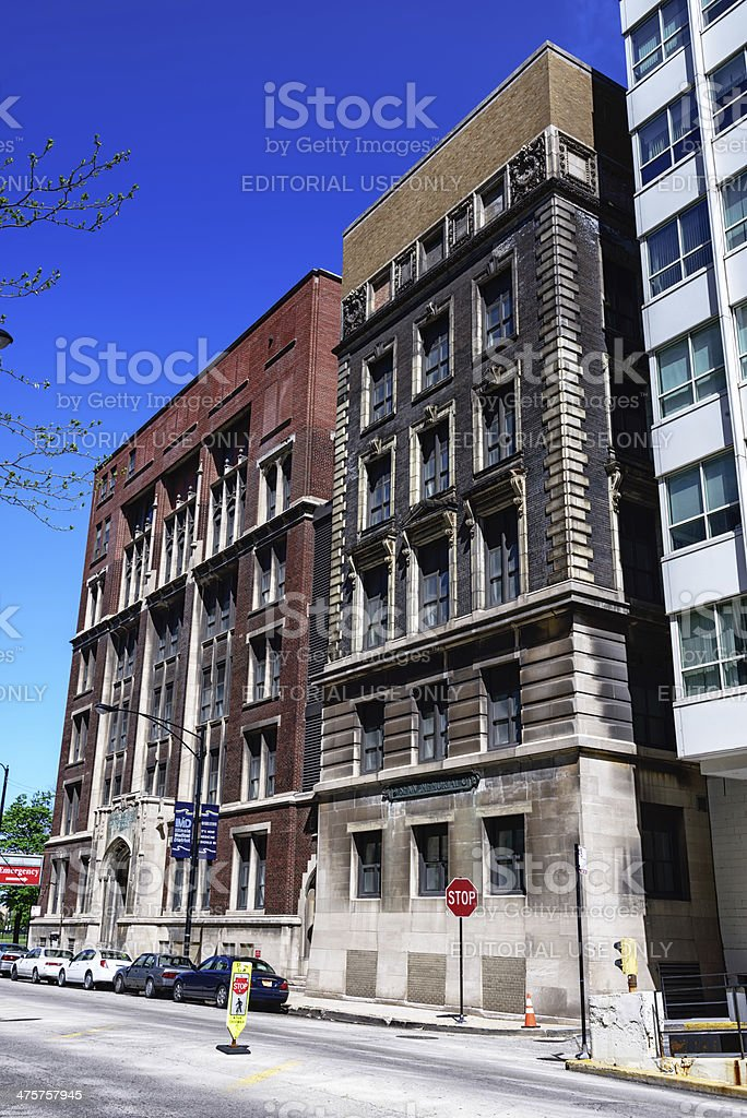 Rush Postgraduate School of Medicine and Senn Memorial,  Chicago stock photo
