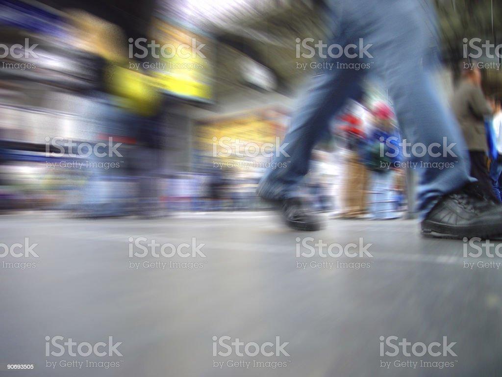Rush-hour royalty-free stock photo