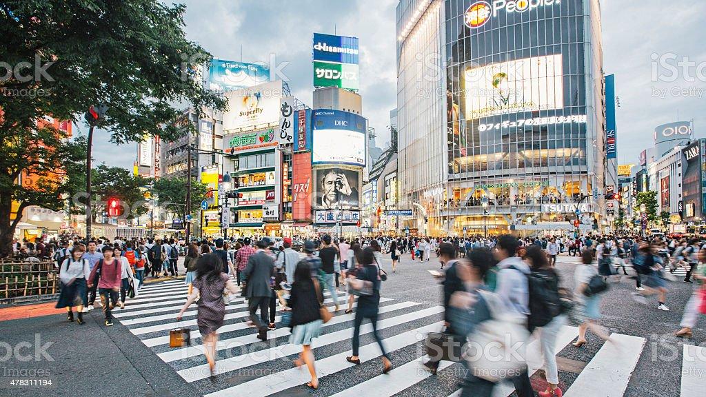 Rushing around Tokyo stock photo