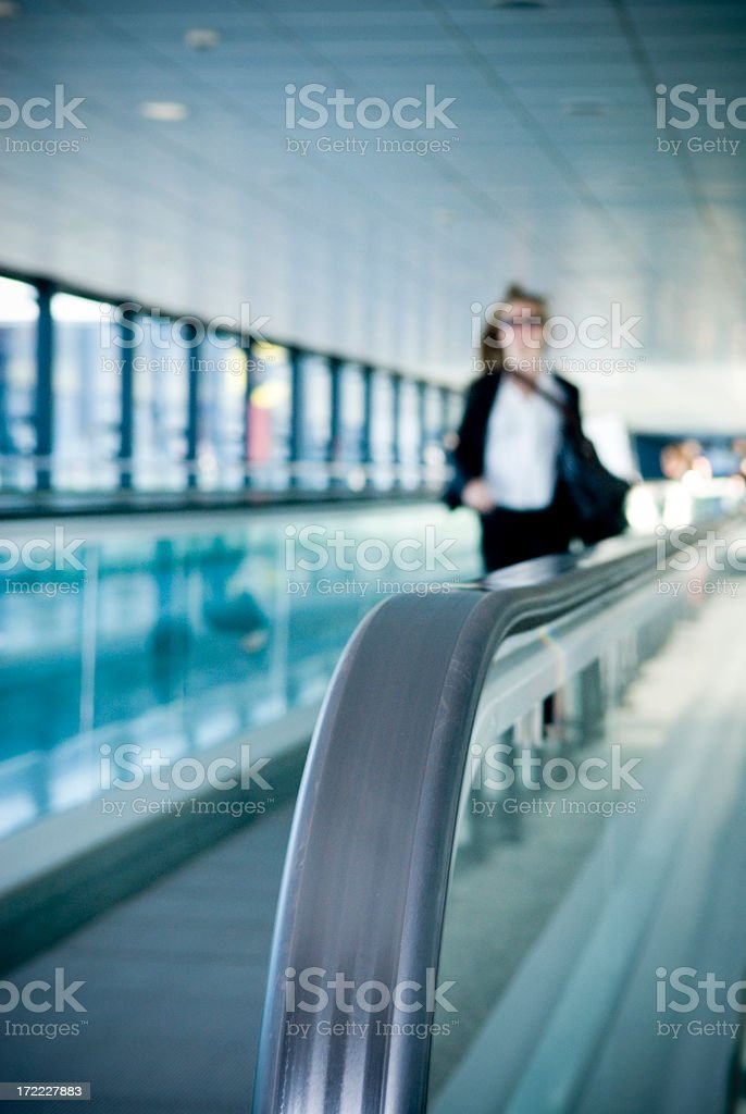 Rushing Business Woman royalty-free stock photo