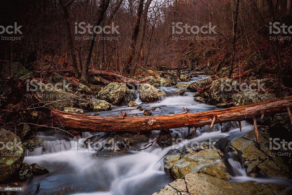 Rushing Fall Creek stock photo