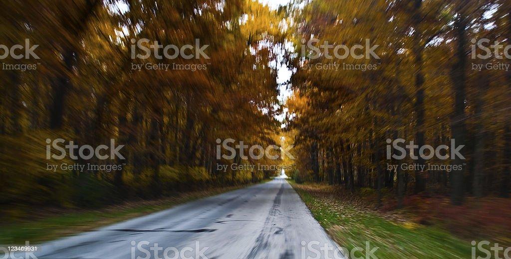 rushing road stock photo