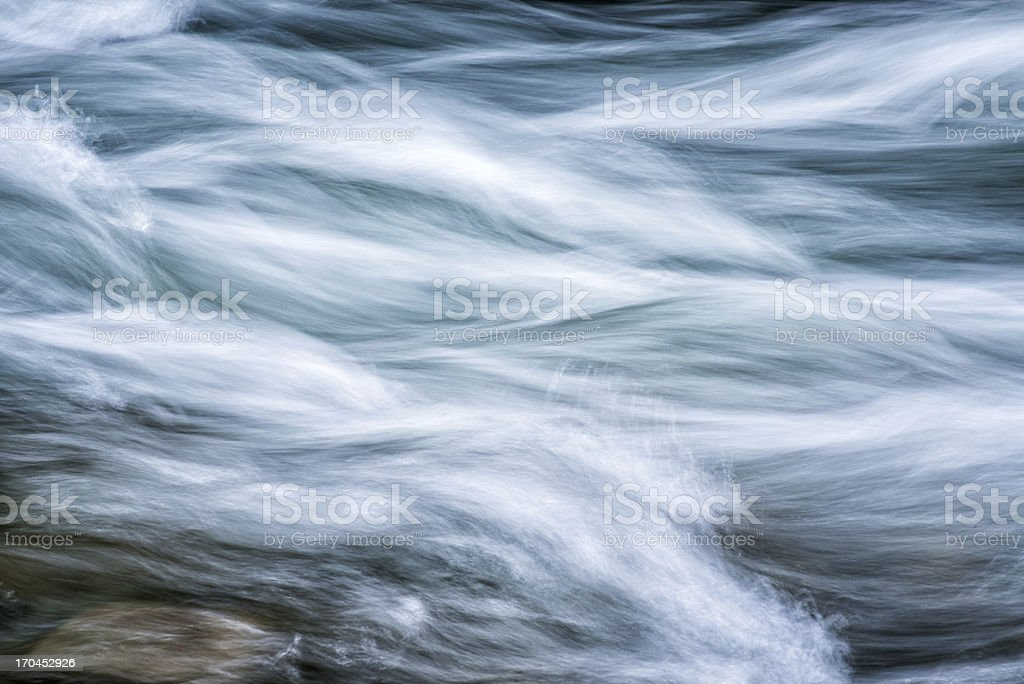 Rushing Stream In Springtime Background royalty-free stock photo