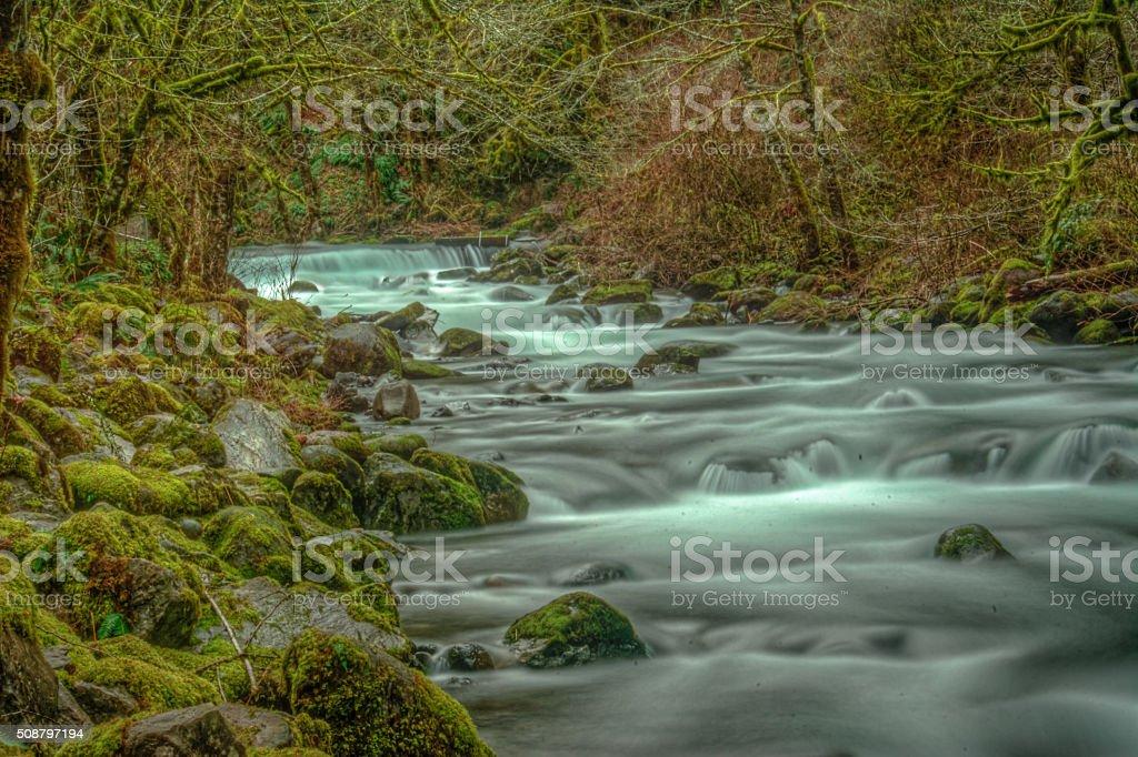 Штурм потока в Ущелье реки Колумбия Стоковые фото Стоковая фотография