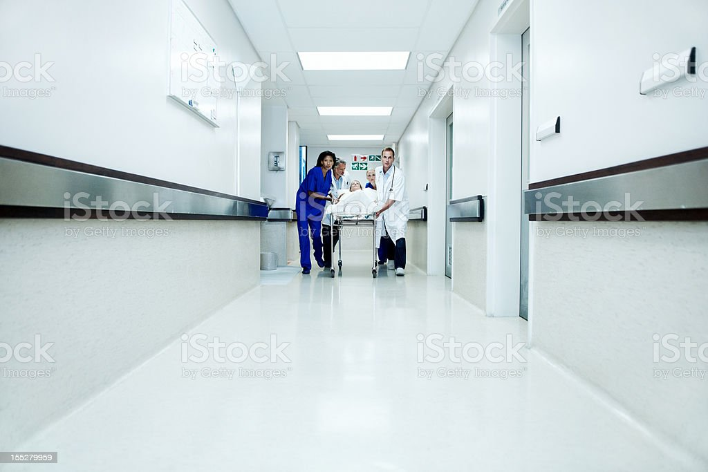 Rushing to save a life royalty-free stock photo