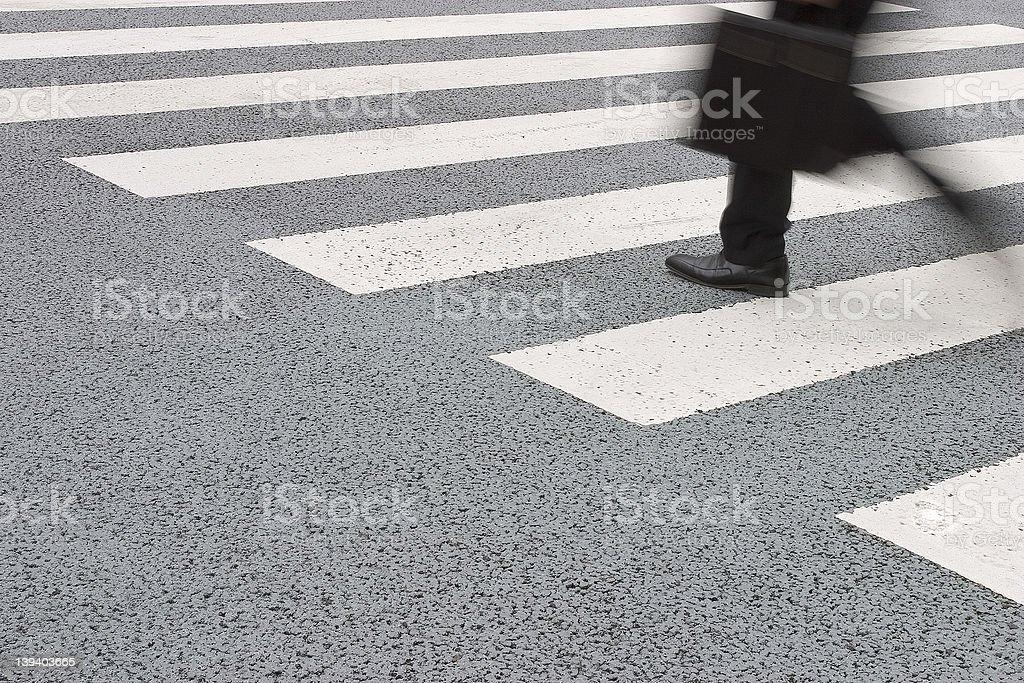 rushing to work stock photo