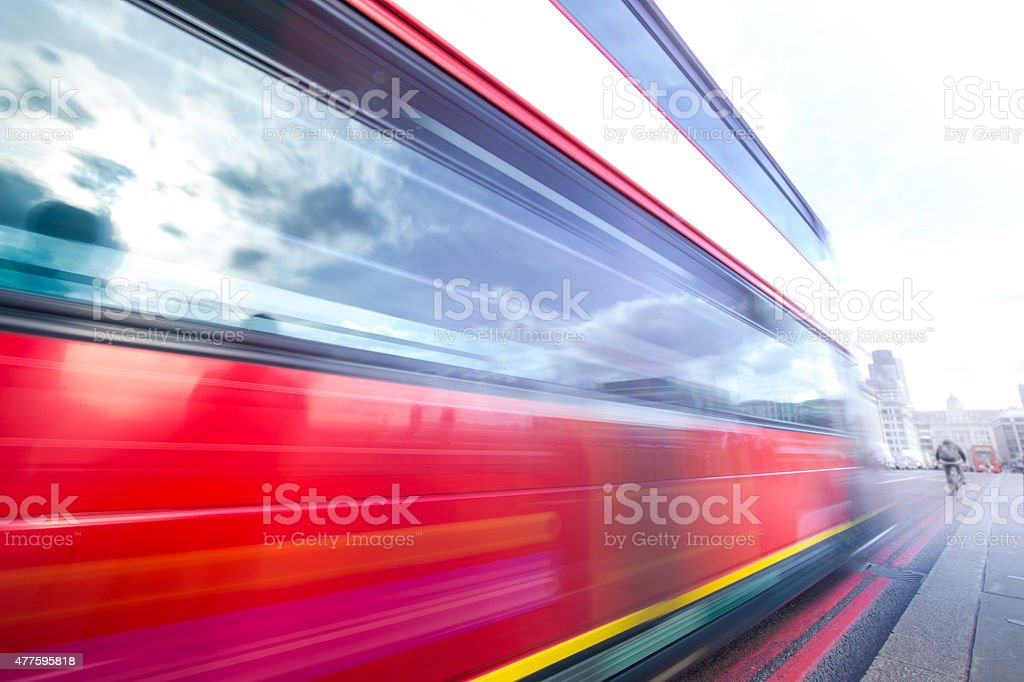 rushing transport to work stock photo