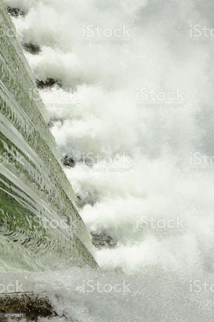 Rushing Water, Dam Spillway stock photo
