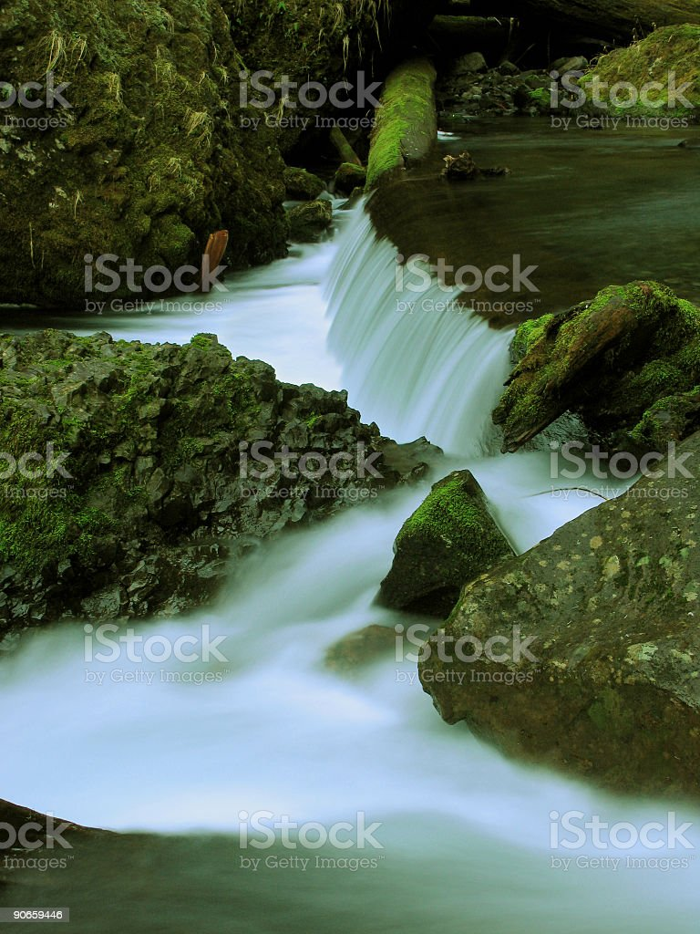 Rushing Water into a River royalty-free stock photo