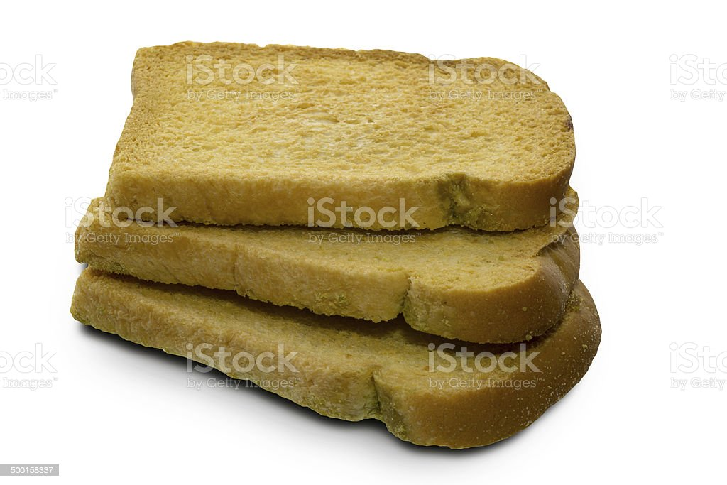 Rusk in a white background stock photo