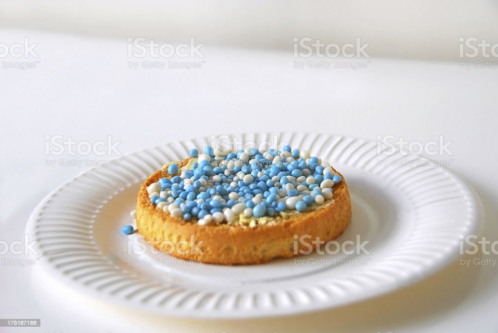 Rusk with anise seed sprinkles. royalty-free stock photo