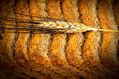 Rusks of Wholemeal Flour with Ear of Wheat
