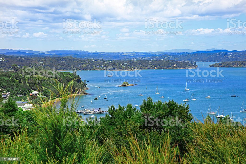 Russell and Bay of Islands, New Zealand stock photo