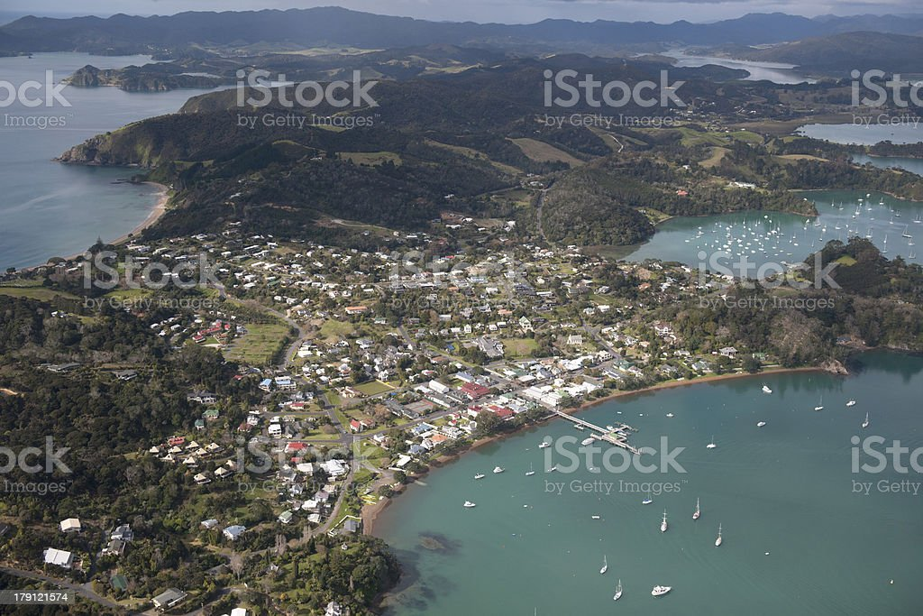 Russell - Bay of Islands, New Zealand stock photo