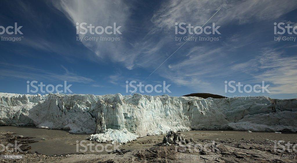 Russell Glacier, Kangerlussuaq, Greenland stock photo