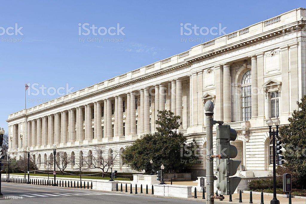 Russell Senate office building facade Washington stock photo
