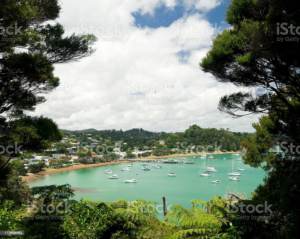 Russell Waterfront, New Zealand stock photo