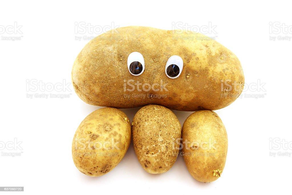 Russet Potato Guy stock photo