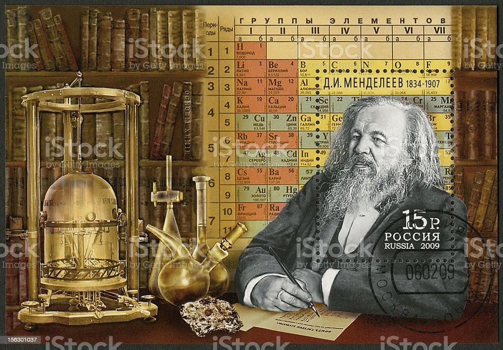 Russia 2009 Dmitri Mendeleev (1834-1907) stock photo
