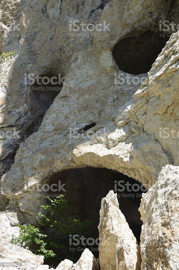Russia, Adygeya, mountain landscape in the spring. Rock 'Scull' royalty-free stock photo