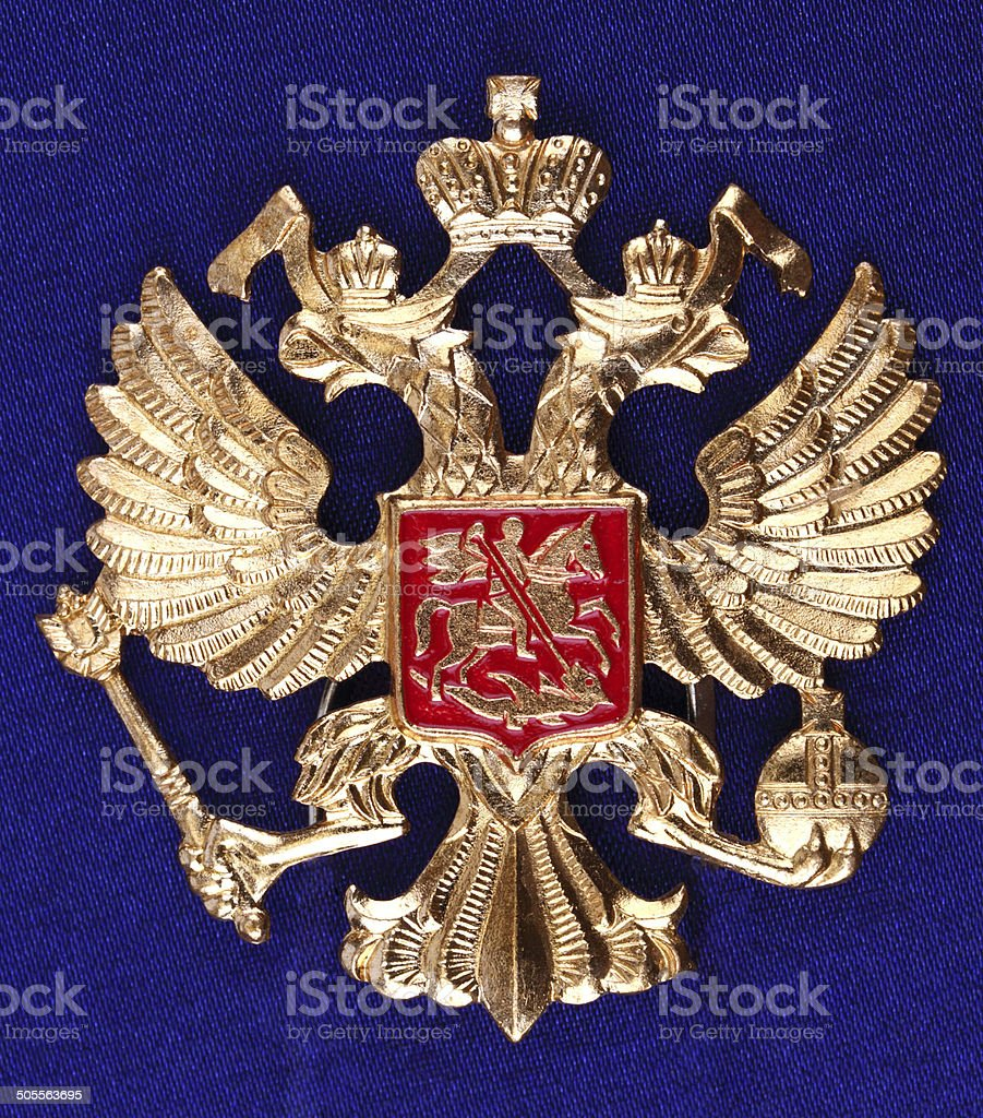Russia. Coat of arms stock photo