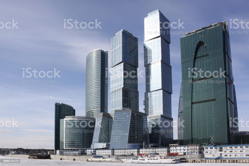Russia. Complex of Moscow business city center stock photo