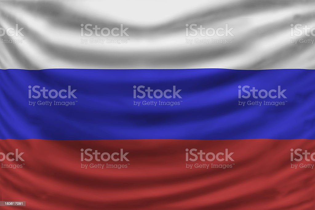 russia flag royalty-free stock photo