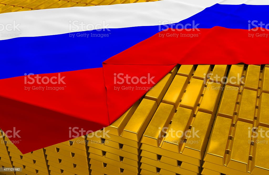 Russia gold reserve stock stock photo